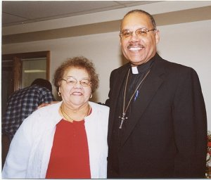 My mother and me at my ordination, January 18, 2003.