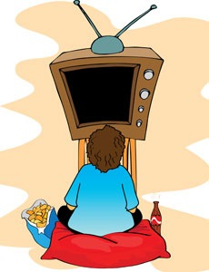 Child at TV