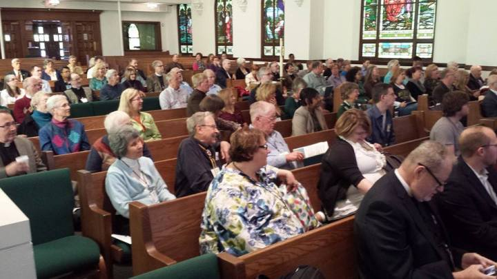 ELCA Networking for Mission Gathering, Zoar Lutheran Church, Perrysburg, Ohio. Final plenary session on Saturday morning.
