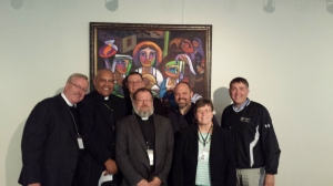 The six new Bishops with formation leader Mike Girlinghouse, front center.