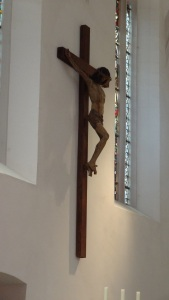 Crucifix in the sanctuary of St. Peter and Paul Church in Eisleben, Germany.