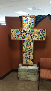 The cross at the Lutheran Center, Chicago.