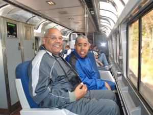In the sightseeing car on the way home from Washington D.C. in 2012