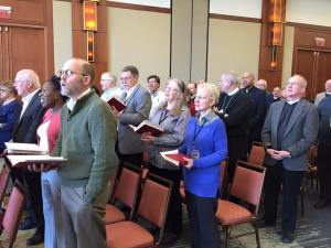 Sunday morning worship at Conference of Bishops [Photo: Bishop R. Guy Erwin]