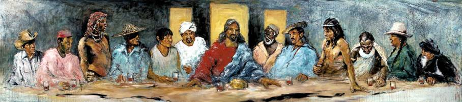 The Last Supper with Twelve Tribes - Hyatt Moore
