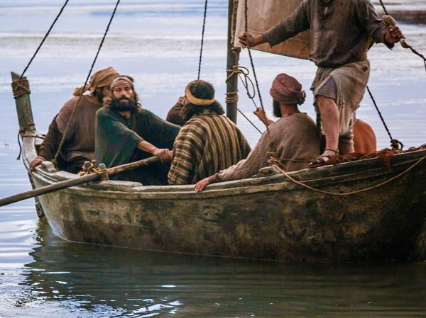 The disciples going fishing