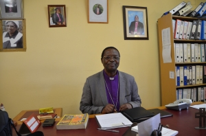 Bishop SWS Sihlangu at his office in Polakwane.