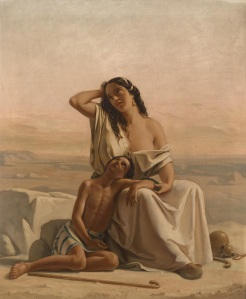 Hagar and Ishmael in the desert, Luigi Alois Gillarduzzi 1851