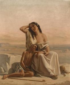 Hagar and Ishmael in the desert, Luigi Alois Gillarduzzi 1851