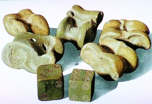 Sheep knuckles were most commonly used in casting lots.